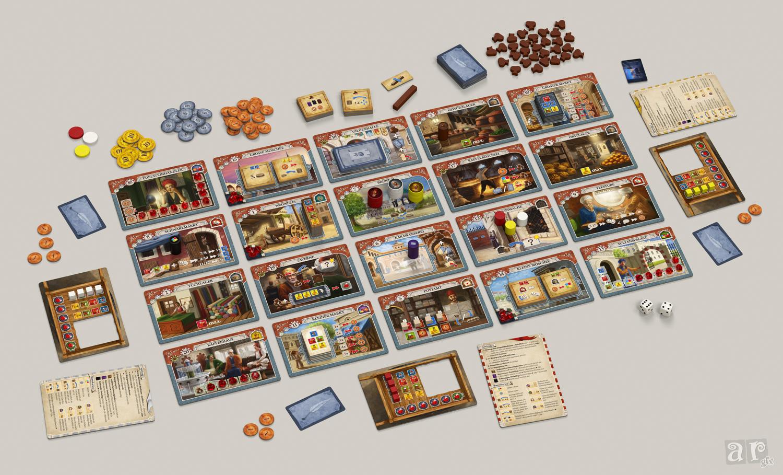 Setup für 3 Spieler inkl. Erweiterung